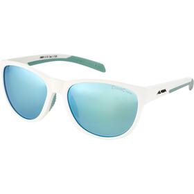 Alpina Nacan II Okulary, white matt-pistachio/emerald mirror